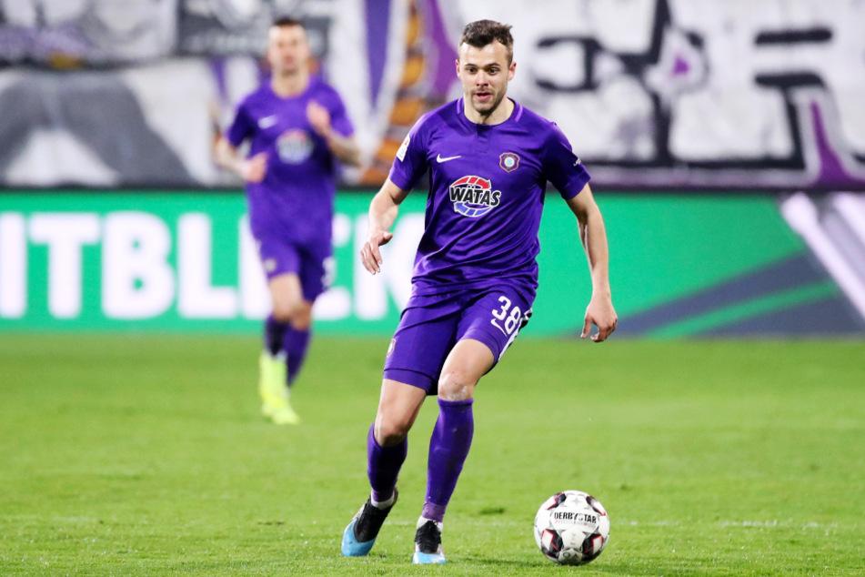 Robert Herrmann (27) kam für den FC Erzgebirge Aue nur zu 14 Einsätzen.