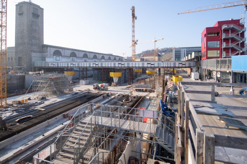 Fast alles steht in der Corona-Krise still, doch für Stuttgart 21 wird weiter gebaut