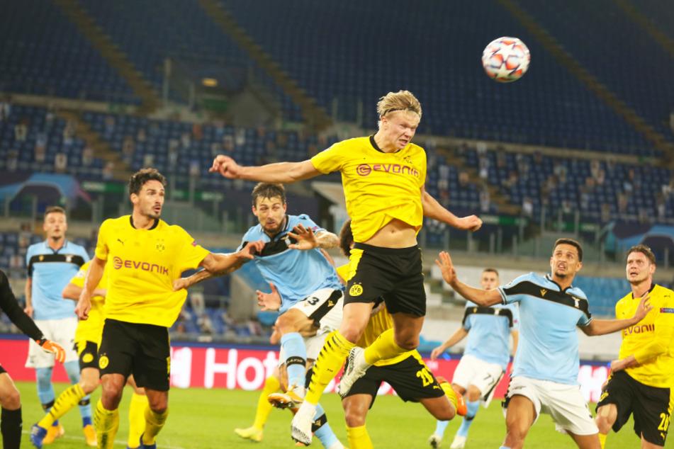 Erling Haaland (oben) erzielte für Borussia Dortmund den 1:2-Anschlusstreffer. Lange hielt die Hoffnung auf einen Punktgewinn aber nicht an.