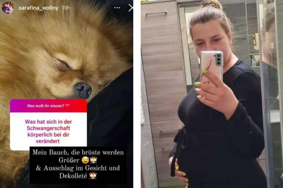 Sarafina Wollny (26) und Ehemann Peter (27) werden in Kürze zum ersten Mal Eltern. In einer Instagram-Fragerunde beantwortete die werdende Mutter einige Fragen ihrer Fans.