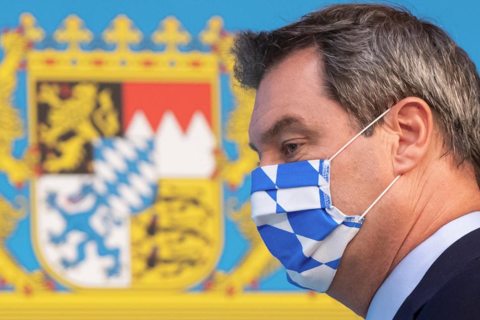 Markus Söder ist strikt gegen Abschaffung oder Lockerung der Maskenpflicht.