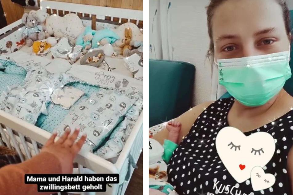 Sarafina Wollny (26) präsentierte ihren Fans am Sonntag stolz das Zwillings-Bett, das Mutter Silvia Wollny (56) für die Babys ihrer Tochter gekauft hat.