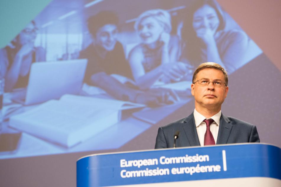 Vladis Dombrovskis, Vizepräsident der EU-Kommission und Kommissar für Wirtschaft und Kapitaldienstleistungen.
