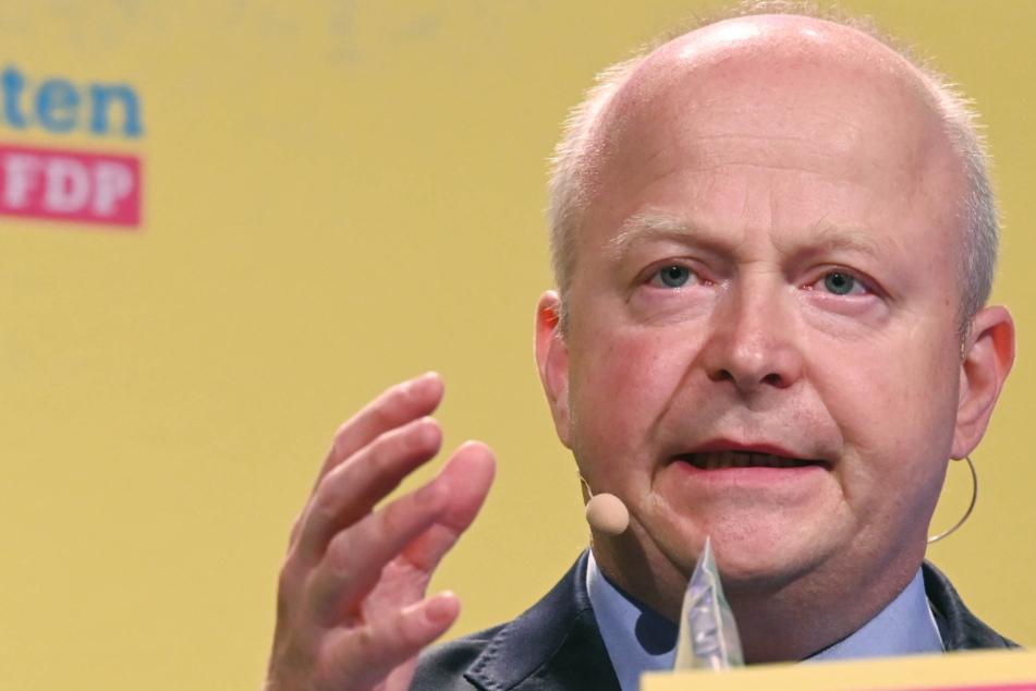 Michael Theurer, Landesvorsitzender der FDP Baden-Württemberg, spricht beim Landesparteitag der FDP.
