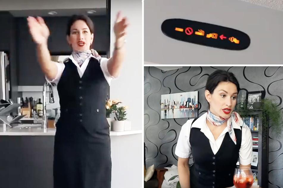 Stewardess arbeitet zu Hause weiter: Ihr Mann hat es nicht leicht!