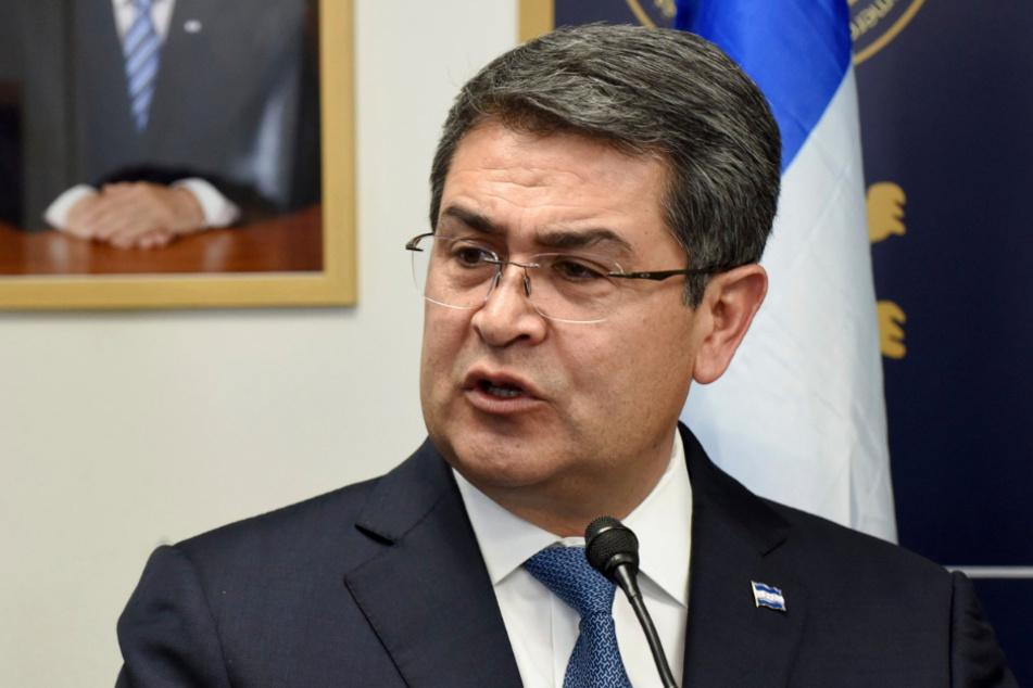 Juan Orlando Hernandez, Präsident von Honduras, spricht bei einer Veranstaltung. (Archivbild)