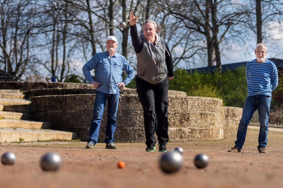 Demnächst dürfen die Boule-Spieler des 1. Chemnitzer Pétanque-Clubs auf dem Sportplatz der Spielvereinigung Blau-Weiß trainieren.