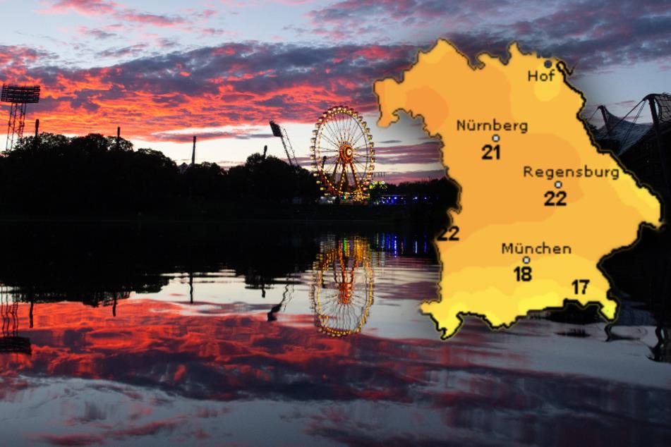 Sonne, Wolken und Regen: Beim Wetter in Bayern ist alles dabei