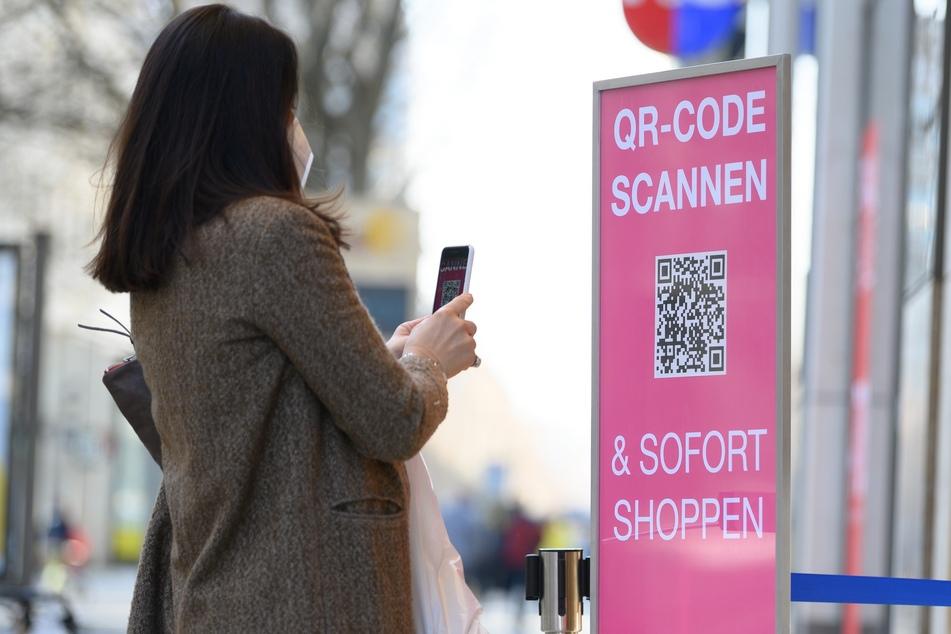 """Trotz hoher Inzidenz ist """"Click & Meet"""" weiterhin in Dresden erlaubt."""
