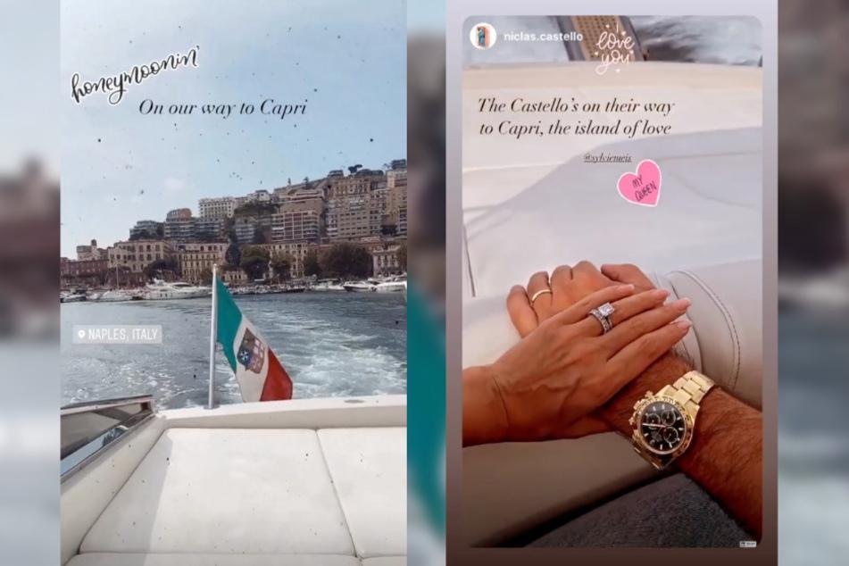 Auf Instagram zeigt die Moderatorin ihren Ehering.