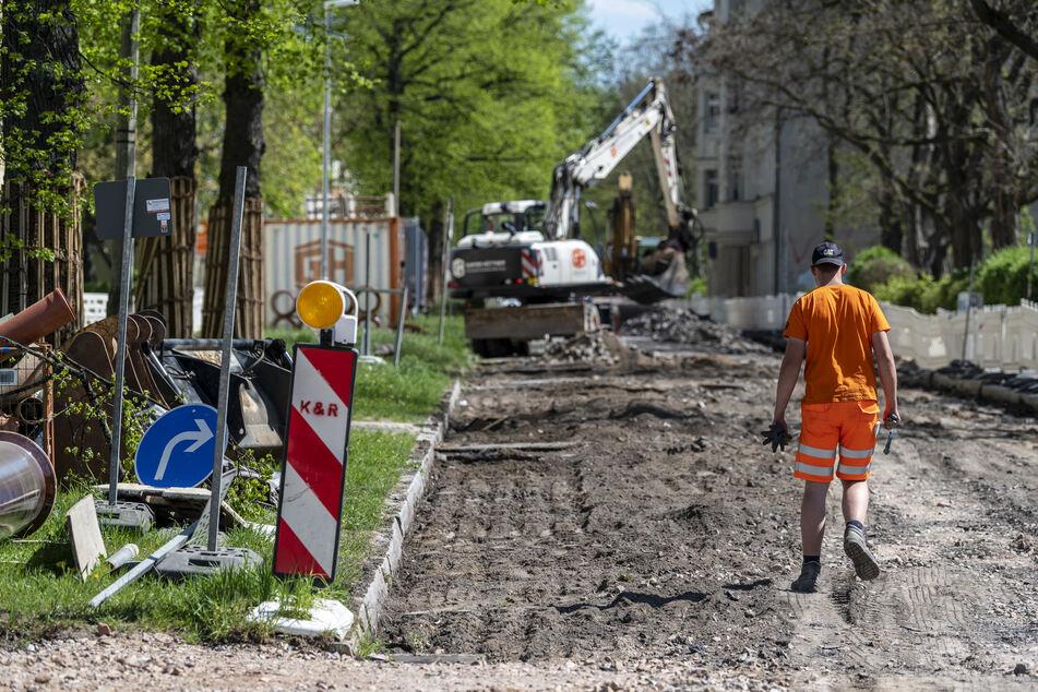 Die Straßenbaustelle auf der Vetterstraße zwischen Fabriciusstraße und Gutenbergstraße ist eine von 450 Baustellen im Stadtgebiet.