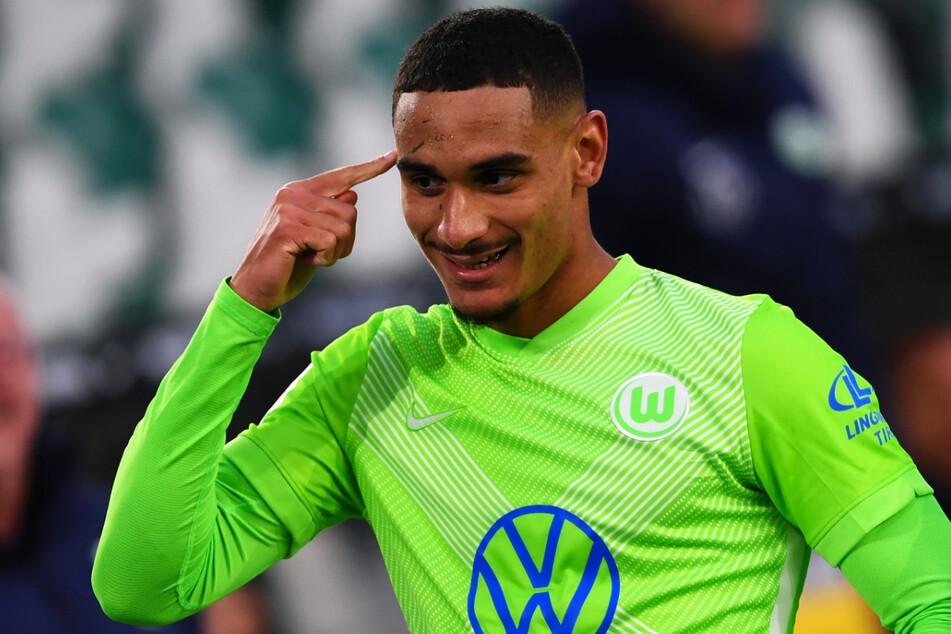 Mit Köpfchen: Maxence Lacroix (20) erzielte für den VfL Wolfsburg am vergangenen Samstag beim 2:0 gegen Hertha BSC sein erstes Bundesliga-Tor.