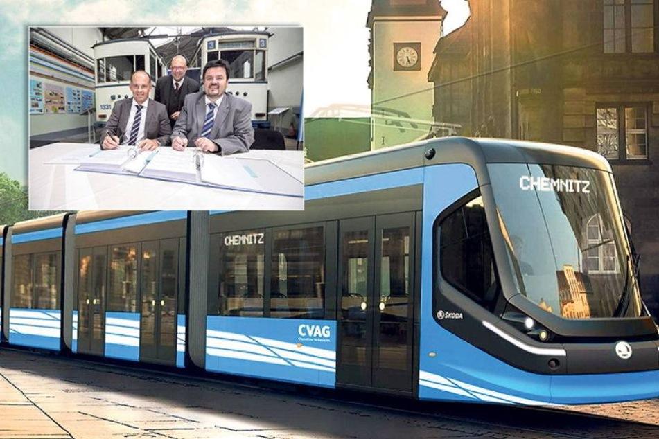 Chemnitzer neue Straßenbahnen haben sogar W-LAN