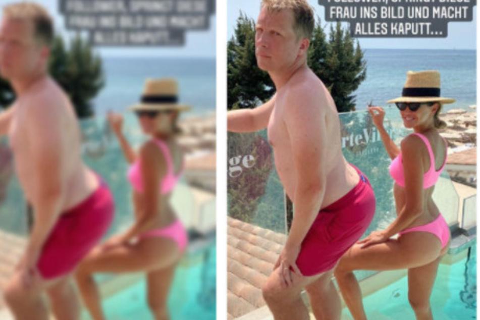 Oliver Pocher (43) zeigte das Foto in seiner Instagram-Story. Die Blondine ist seine Ex-Frau Alessandra Meyer-Wölden (38).