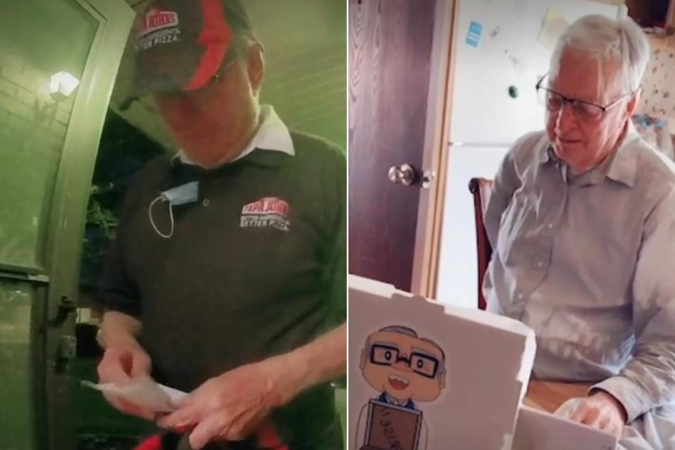 89-jähriger Pizzabote bekommt rührende Überraschung von Stammkunden