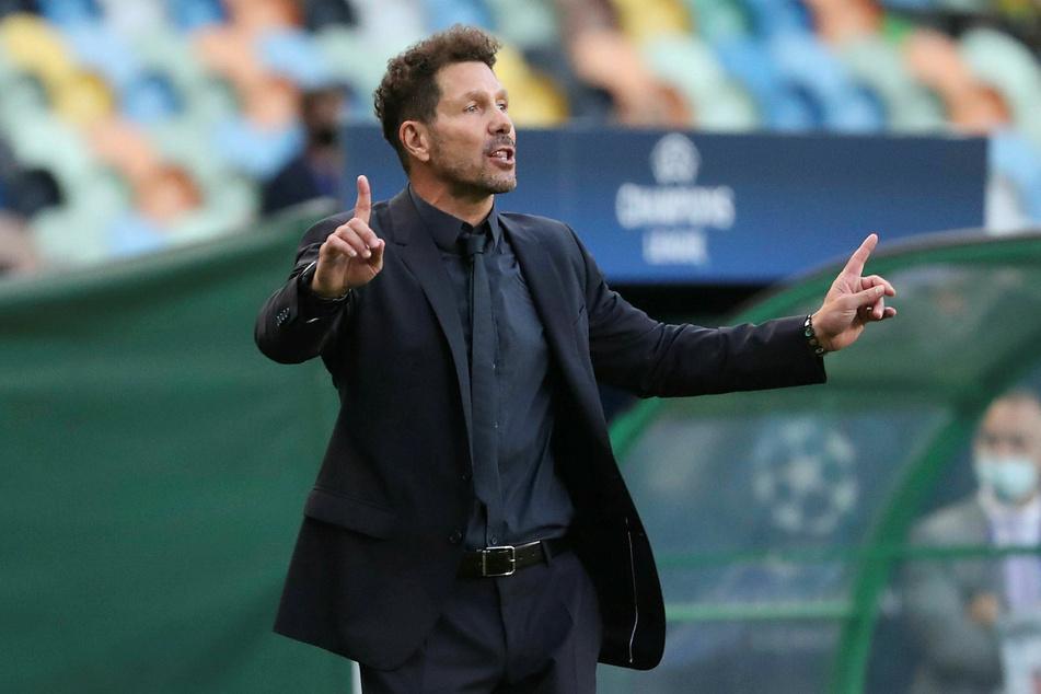 Mit Atlético-Trainer Diego Simeone (50) geriet Nagelsmann in der Halbzeitpause aneinander.