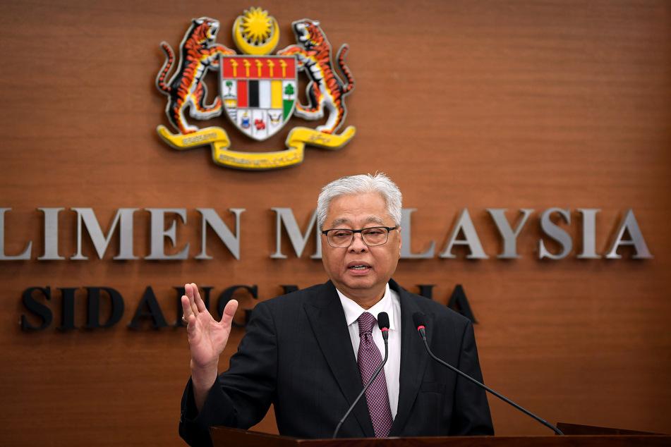 Kuala Lumpur: Ismail Sabri Yaakob, Minister für nationale Sicherheit in Malaysia, spricht bei einer Pressekonferenz.