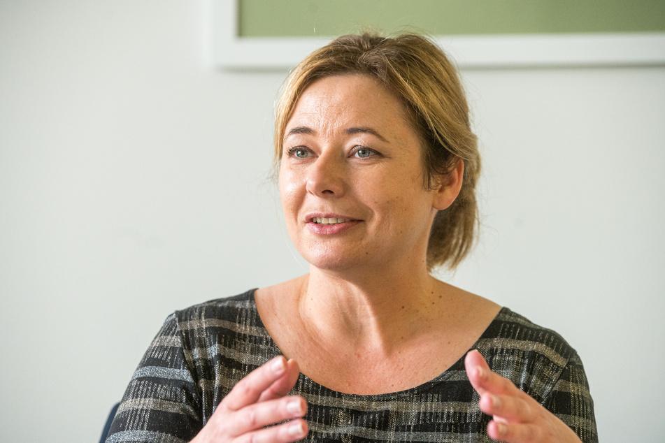 Die Geschäftsführerin der Dresdner Marketing Gesellschaft, Corinne Miseer (44), möchte die Dresdner in die Tourismus-Angebote einbeziehen.