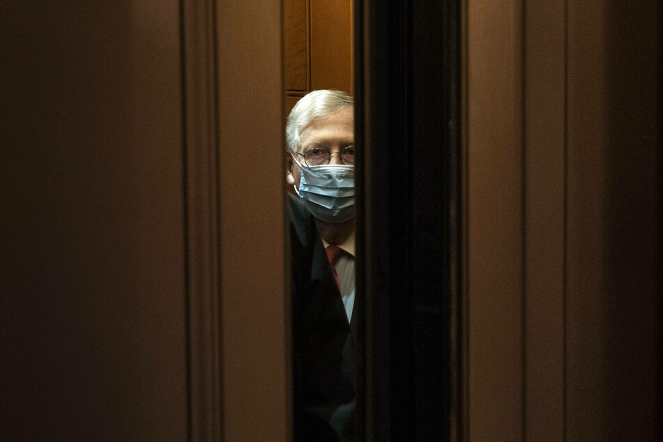Republican Senate Majority Leader Mitch McConnell (78) opposes spending more on the stimulus package.