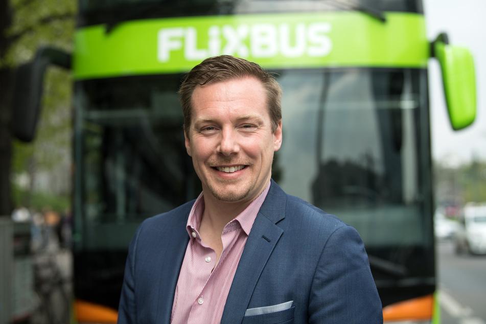 Flixmobility-Chef André Schwämmlein (39) kündigt neue Flixtrain-Strecken an.