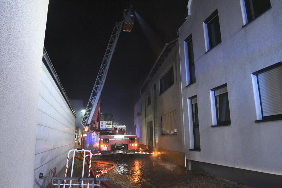 Die Feuerwehr löschte in der Nacht den Brand.