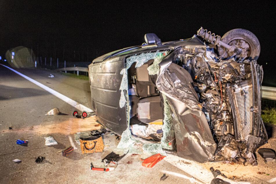 Tödlicher Unfall auf der Autobahn: Mann hat keine Chance