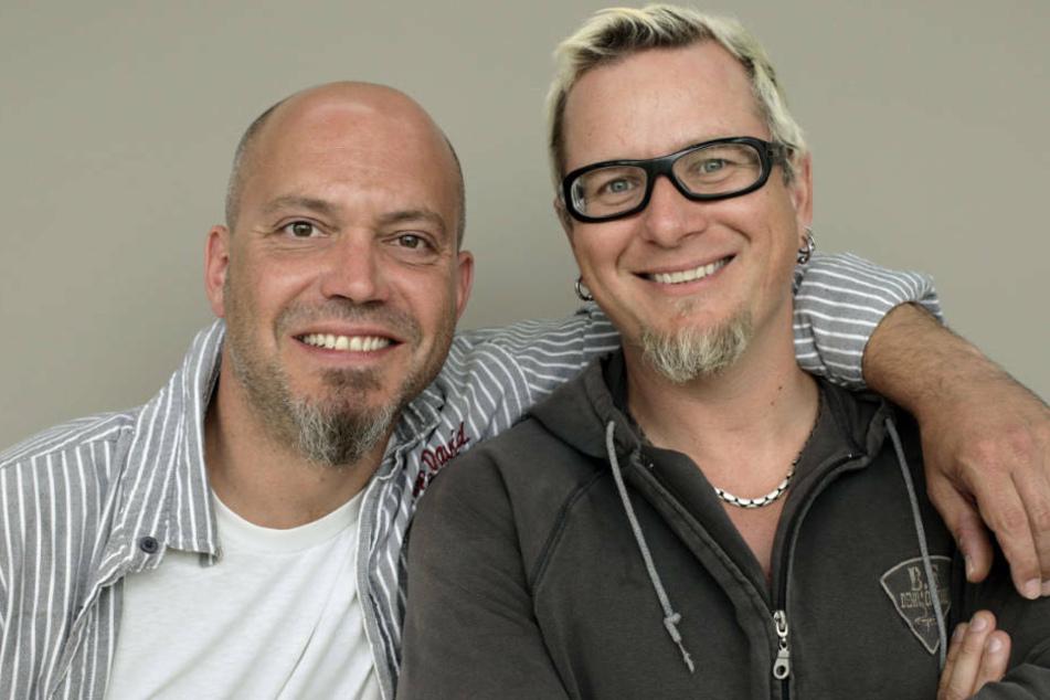 Ande Werner (l.) und Lars Niedereichholz sind zusammen das Frankfurter Comedy-Duo Mundstuhl (Archivbild).