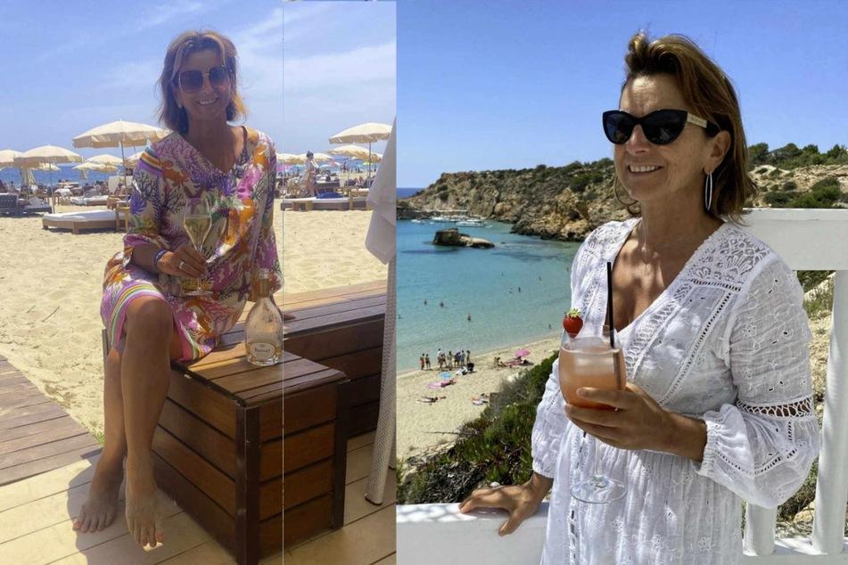 Claudia Obert (59) hält gerne mal ein Glas Alkohol in der Hand.