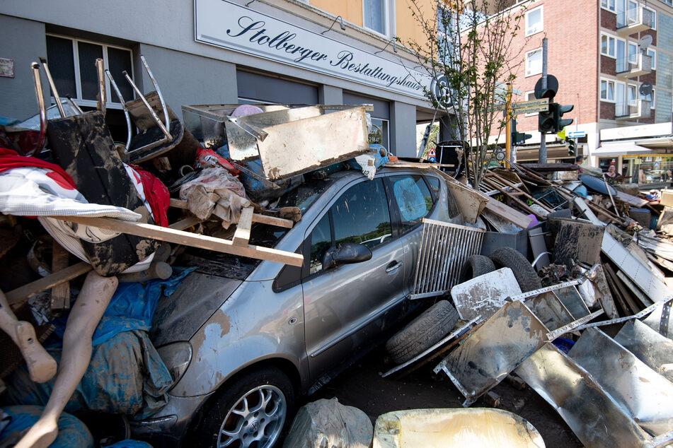 Die Stadt Stolberg bei Aachen war von der Hochwasser-Katastrophe im Juli 2021 stark getroffen worden. Die Flut hatte eine Spur der Verwüstung hinterlassen.