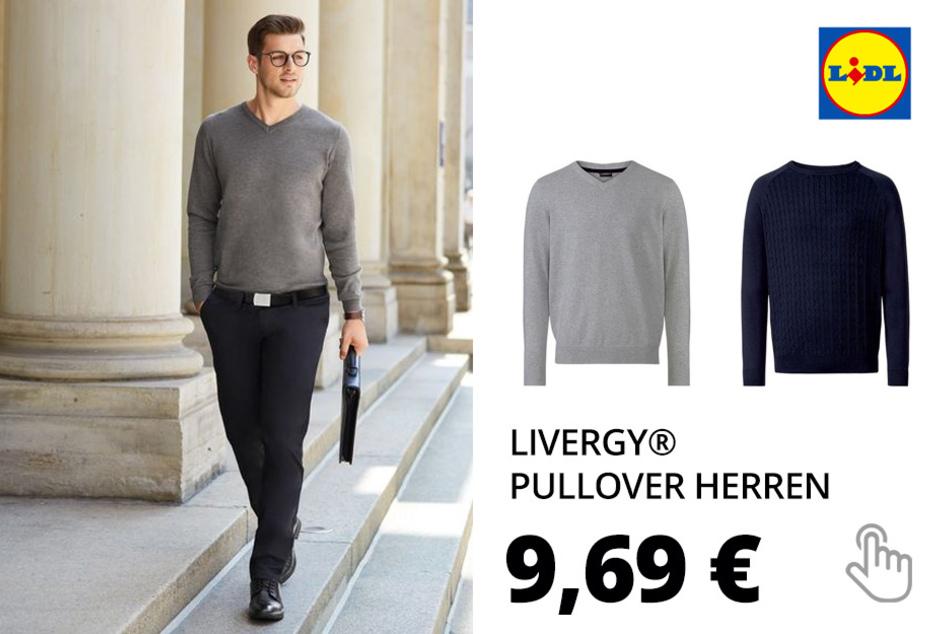 LIVERGY® Pullover Herren, aus reiner Baumwolle