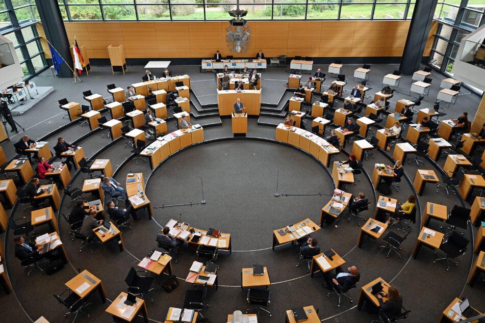 Blick in den Plenarsaal des Thüringer Landtags. (Symbolfoto)