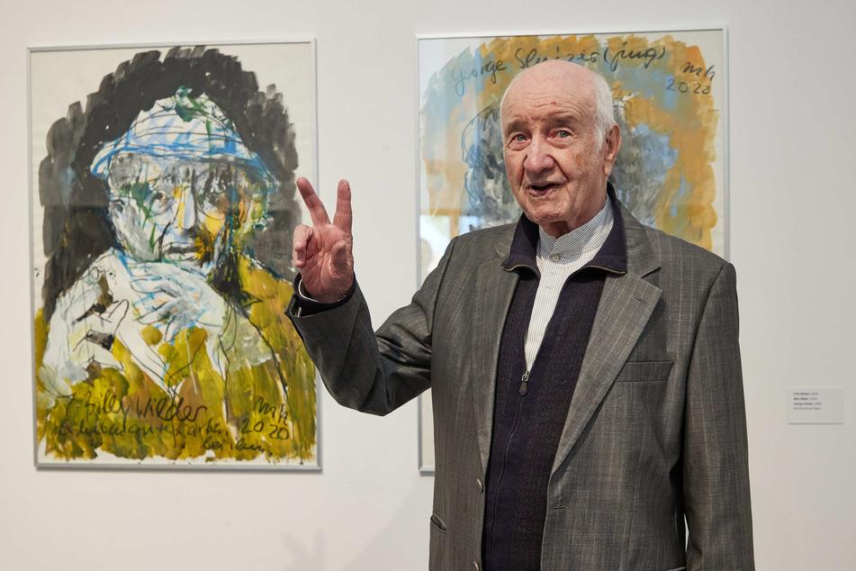 """Armin Mueller-Stahl (90) bei einer Pressekonferenz zur Ausstellung """"Armin Mueller-Stahl. Nacht und Tag auf der Erde"""" in der Kunsthalle Lübeck."""