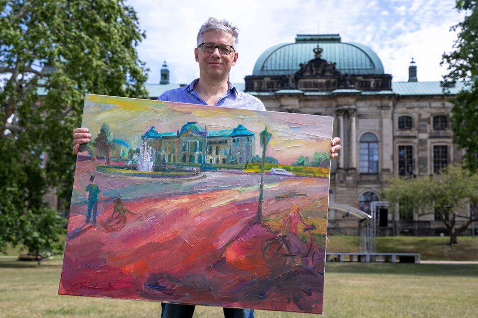 """Für Veranstalter Jörg Polenz gehört """"Malen im Park"""" zum langjährigen Markenzeichen der Veranstaltungsreihe."""
