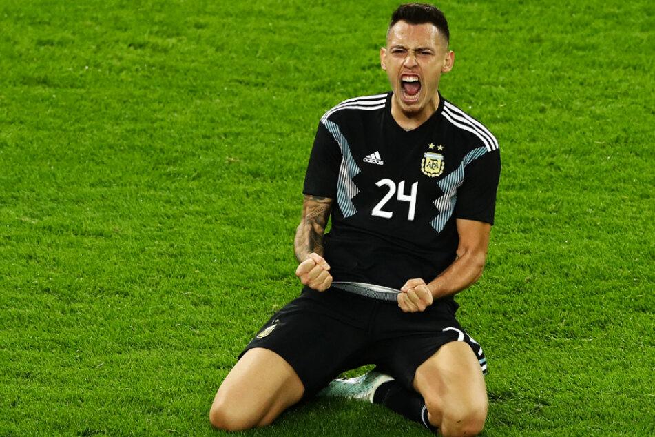 Lucas Ocampos (25) traf bei seinem Länderspieldebüt am 9. Oktober 2019 in Dortmund für Argentinien gegen Deutschland zum 2:2-Endstand in der 85. Minute.