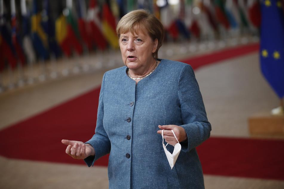 Angela Merkel (CDU) zeigt sich erfreut über den Bau der neuen Tesla-Fabrik.