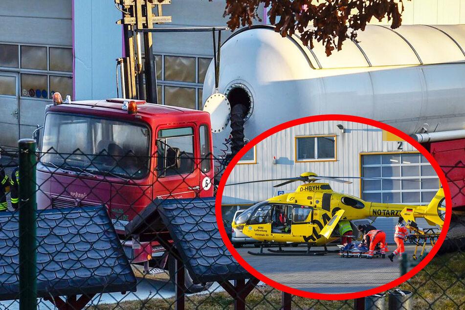 Gas-Laster in Flammen: Mitarbeiter (17) schwer verletzt mit Heli in Klinik geflogen!