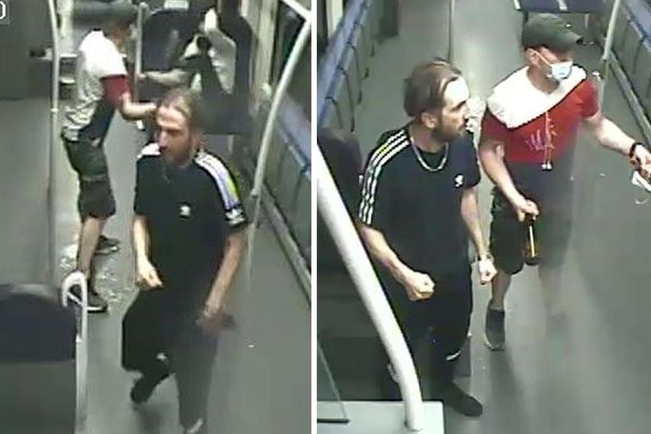 Die Kölner Polizei fahndet mit Aufnahmen einer Überwachungskamera nach den Verdächtigen. (Fotomontage)