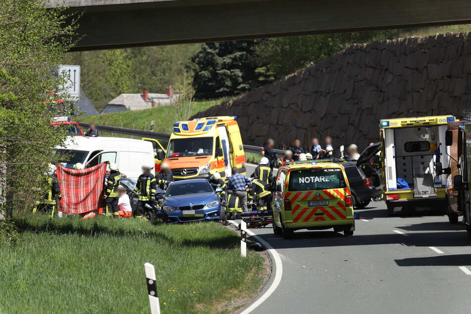 Auf der S258 bei Zwönitz kam es zu einem schweren Unfall.