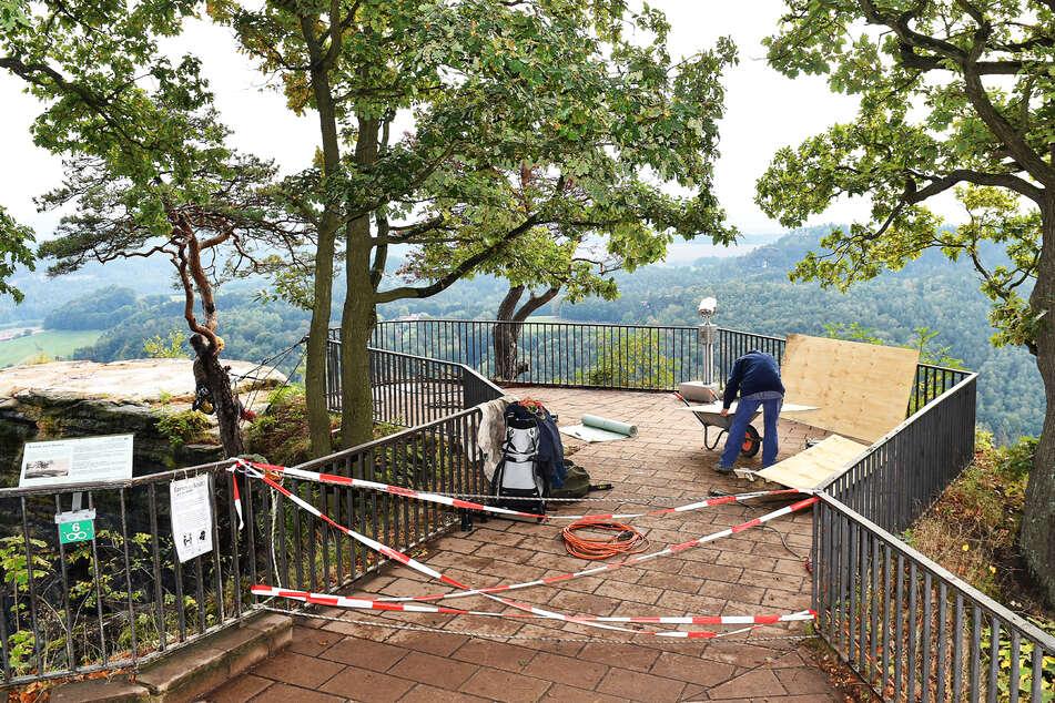 Im vergangenen Herbst wurden erste Arbeiten an der Aussichtsplattform vorgenommen. Jetzt geht es in die heiße Phase.