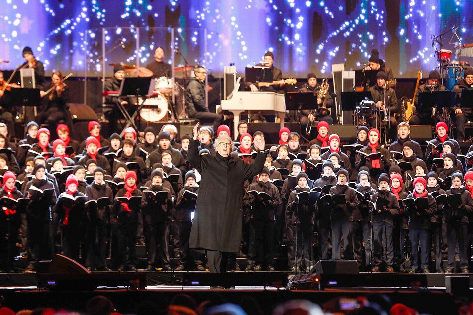 Der Dresdner Kreuzchor beim Weihnachtskonzert im vergangenen Jahr.