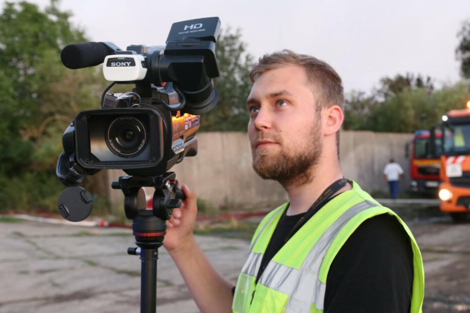 Der Fotograf Julian Stähle (26) bei seiner Arbeit.