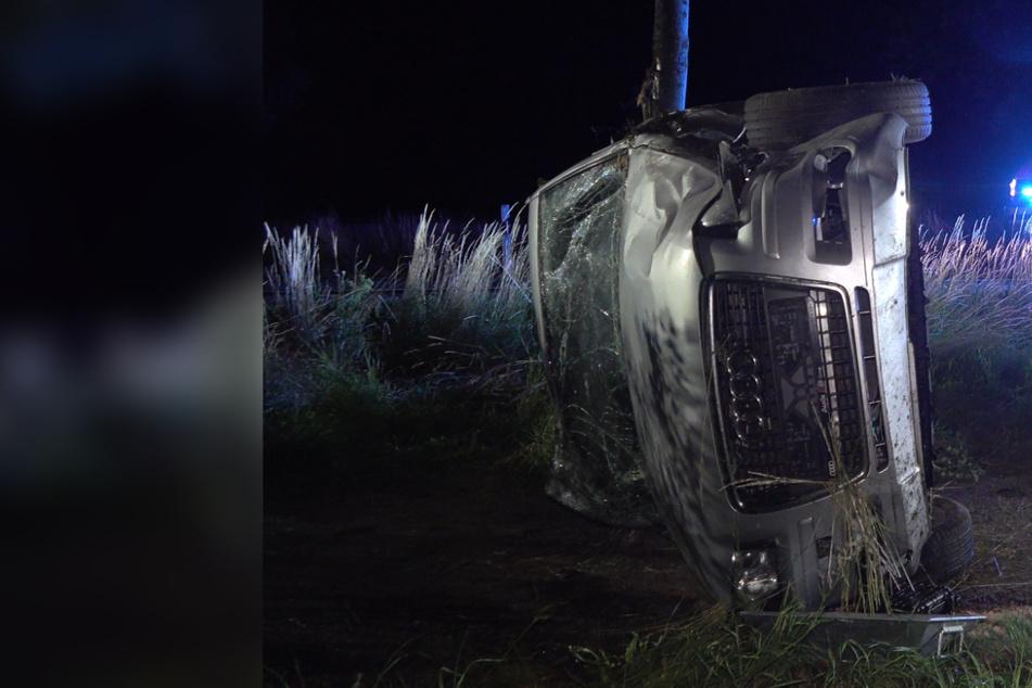 Unter Drogen! Audi-Fahrer (24) und drei Teenager bei Unfall nahe Leipzig schwer verletzt