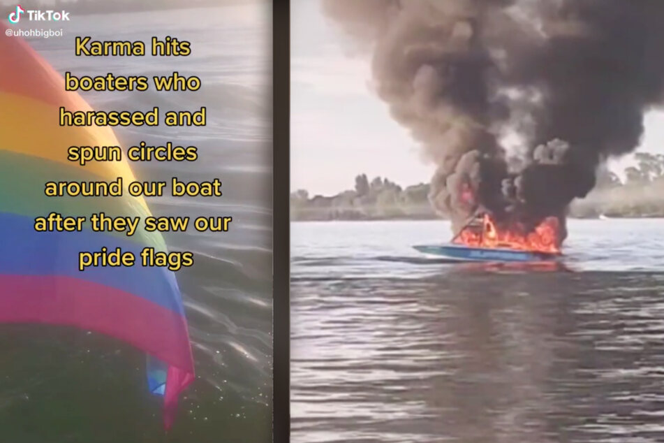 Flaming out: Ultimate Karma for homophobic boaters who harass family flying Pride flag