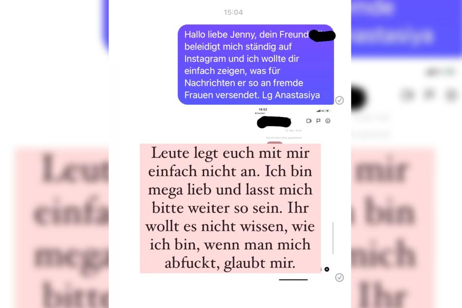 Der Screenshot zeigt die Instagram-Story, mit welcher Anastasiya Avilova (33) ihre Rache-Aktion gegen einen unbekannten Stalker am Mittwoch öffentlich machte.