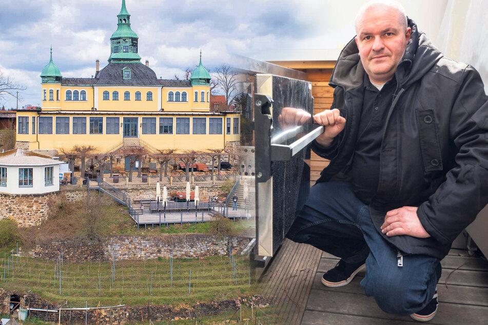 Dresden: Spitzhaus-Wirt sauer: Erneuter Einbruch in seine Gastronomie