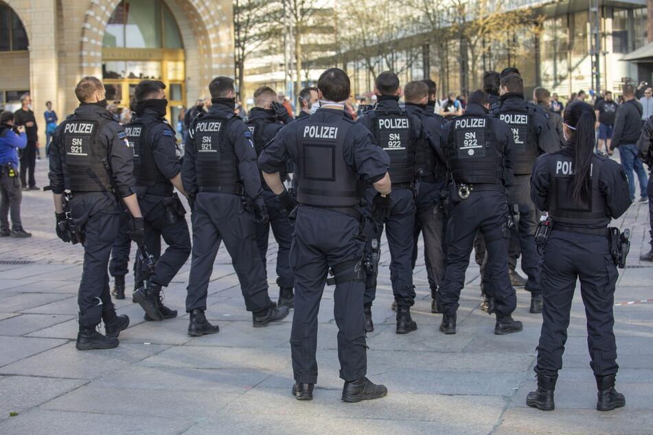 Polizisten werden am heutigen Samstag in der gesamten Innenstadt unterwegs sein.