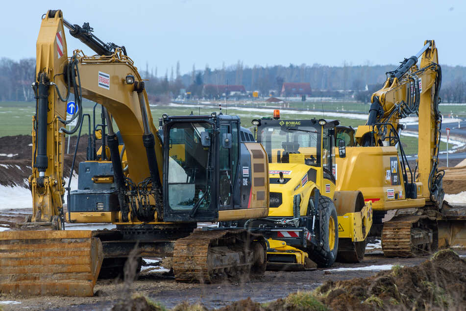 Die Bauarbeiten auf der A14 sind in vollem Gange. (Symbolbild)