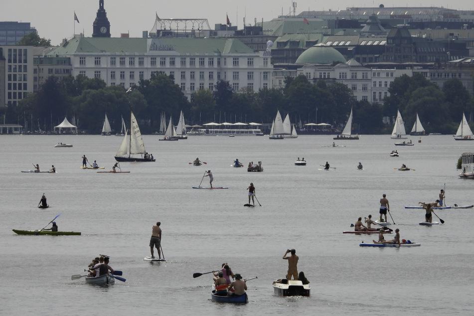 Acht Tage in Folge gab es im August 2020 mehr als 30 Grad in Hamburg. (Archivbild)