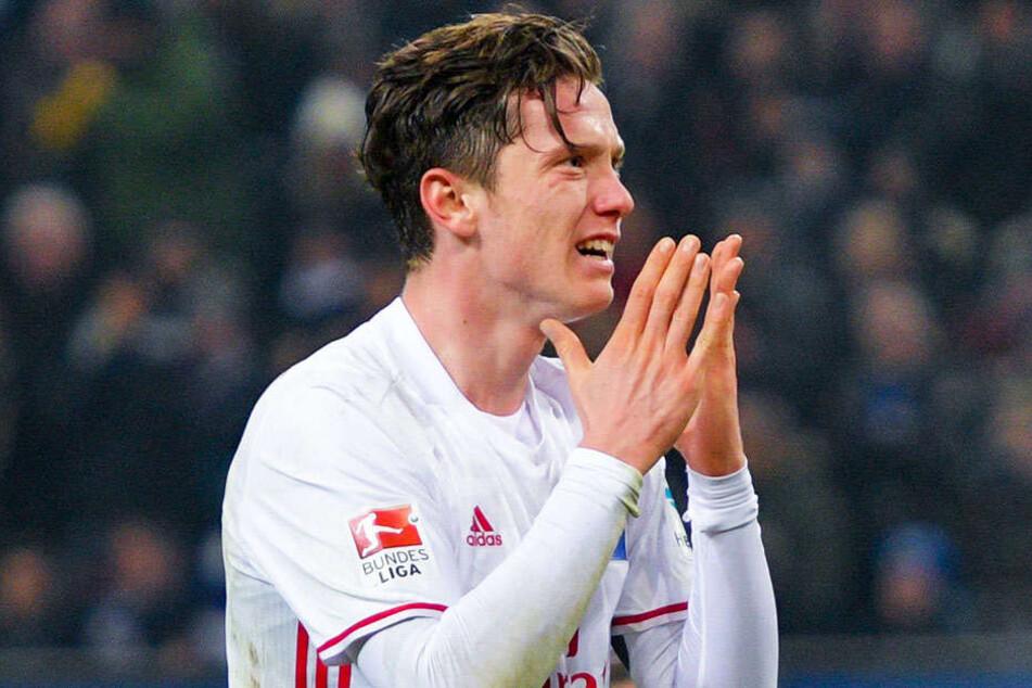 Michael Gregoritsch zu seiner Zeit beim HSV - zum Verzweifeln!