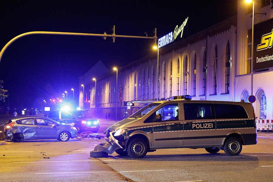 Der Unfallort auf der Kreuzung Leipziger/Limbacher Straße.